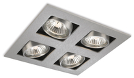 Firstlight 4 Light Cube Brushed Steel 1504BS
