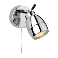 Firstlight 9501CH Single Spotlight With Pullcord & Lamp IP44 28W GU10 240V