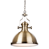 Firstlight Albion Pendant Light Antique Brass 5909AB