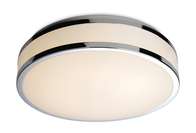 Firstlight Atlantis LED Flush Fitting White Diffuser with Chrome trim 8342CH