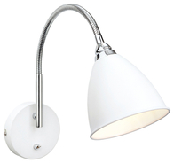 Firstlight Bari Wall Light Switched White with Chrome 3470WH
