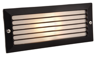 Firstlight Brick Lights with Louvre Black with Opal Glass 1121BK