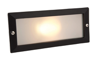 Firstlight Brick Lights without Louvre 1120BK Black with Opal Glass