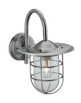 Firstlight Cage Wall Light Stainless Steel 60w 8352ST