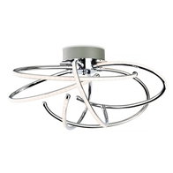 Firstlight Caprice LED Flush Fitting Chrome Curved Arms 4851CH