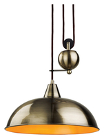 Firstlight Century Rise & Fall Pendant Antique Brass 2309AB
