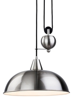 Firstlight Century Rise & Fall Pendant Brushed Steel 2309BS