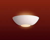Firstlight Ceramic Wall Light C315UN Unglazed with Acid White Glass