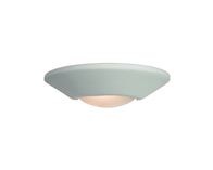 Firstlight Ceramic Wall Light C316UN Unglazed with Acid White Glass