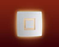 Firstlight Ceramic Wall Light C330UN Unglazed with Acid White Glass