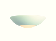 Firstlight Ceramic Wall Light C333UN Unglazed with Acid White Glass Low Energy