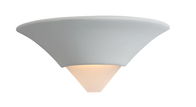 Firstlight Ceramic Wall Light C340UN Unglazed with Acid White Glass