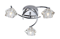 Firstlight Clara 3 Light Flush Fitting 8364CH Chrome with Clear Glass