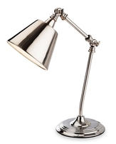 Firstlight Clarion Table Lamp Brushed Chrome 4890BC