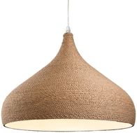 Firstlight Coast Pendant Brown Rope 3441