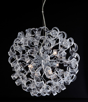 Firstlight Cosmic 6 Light Pendant Chrome with Clear Glass 8121CH