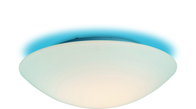 Firstlight Disc Flush Fitting CF10BL Opal Glass with Blue Ceiling Effect