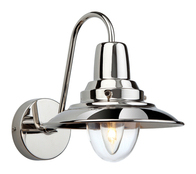 Firstlight Fisherman Wall Light 8686CH Chrome with Clear Glass