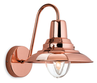 Firstlight Fisherman Wall Light 8686CP Copper with Clear Glass