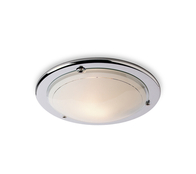 Firstlight Flush Fitting 28w 2D CF17CH Low Energy Chrome with Opal Glass