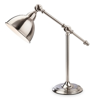 Firstlight Hampton Table Lamp Brushed Chrome 4891BC