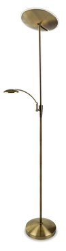Firstlight Horizon LED Floor Lamp Antique Brass 7659AB image 1