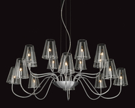 Firstlight Jasmine 16 Light Fitting 4235CH Chrome with Clear Glass