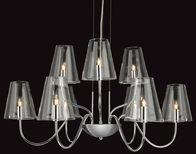 Firstlight Jasmine 9 Light Fitting 4234CH Chrome with Clear Glass