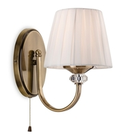 Firstlight Langham Single Switched Wall Light Antique Brass 4861AB