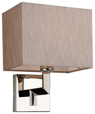 Firstlight Lex Wall Light Polished Stainless Steel with Oyster Shade 3458OY image 1