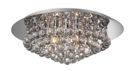 Firstlight Liberty 6 Light Flush Fitting Chrome with Crystal 8314CH