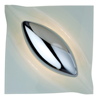 Firstlight Lucas Wall Light 8237CH Chrome with White Glass