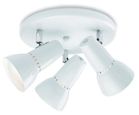 Firstlight Lynx 100 3 Light Flush 5523WH White