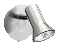 Firstlight Magnum Single Spot Brushed Steel 6090BS