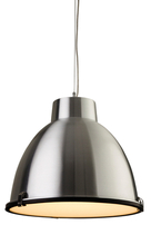 Firstlight Manhattan Pendant 8621AL Aluminium with Frosted Glass
