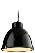 Firstlight Manhattan Pendant 8621BK Black with Frosted Glass