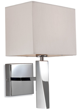Firstlight Mansion Single Light Wall Polished Stainless Steel with Cream Shade 8225PST
