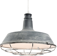 Firstlight Manta Pendant Concrete with Chrome Grill 3444CN