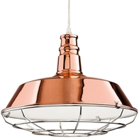 Firstlight Manta Pendant Copper with Chrome Grill 3444CP