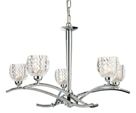 Firstlight Maple 5 Light Fitting 8617CH Chrome with Moulded Clear Glass