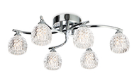 Firstlight Maple 6 Light Fitting 8615CH Chrome with Moulded Clear Glass