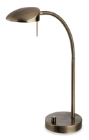 Firstlight Milan LED Table Lamp Antique Brass 4926AB