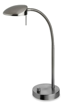 Firstlight Milan LED Table Lamp Brushed Steel 4926BS