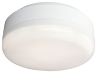 Firstlight Mini Hydro LED Flush Fitting White with White Polycarbonate Diffuser 3432WH
