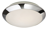 Firstlight Mondo Flush Fitting Chrome with Opal Glass 6099CH
