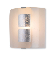 Firstlight Murano Wall Light Silver Leaf on Murano Glass 4251SI