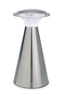 Firstlight Mushroom LED Table Lamp Brushed Steel with White LED's 6077BS