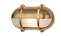Firstlight Nautic Wall Light Solid Brass with Frosted Glass 2837BR
