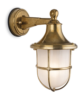 Firstlight Nautic Wall Light Solid Brass with Frosted Glass 2838BR