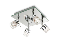 Firstlight Ocean 4 Light Flush Chrome with Mirror Glass 6097CH